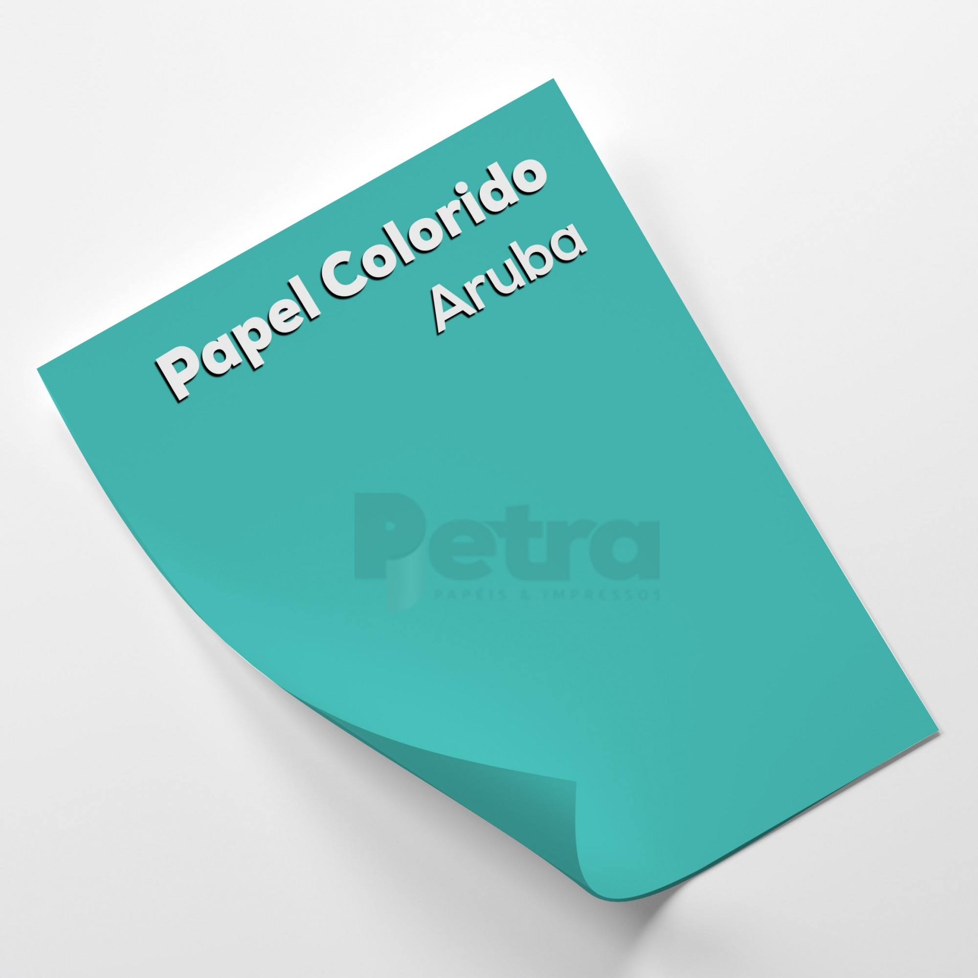 Papel Color plus Aruba - tam. A4 120g/m² - 50 Folhas