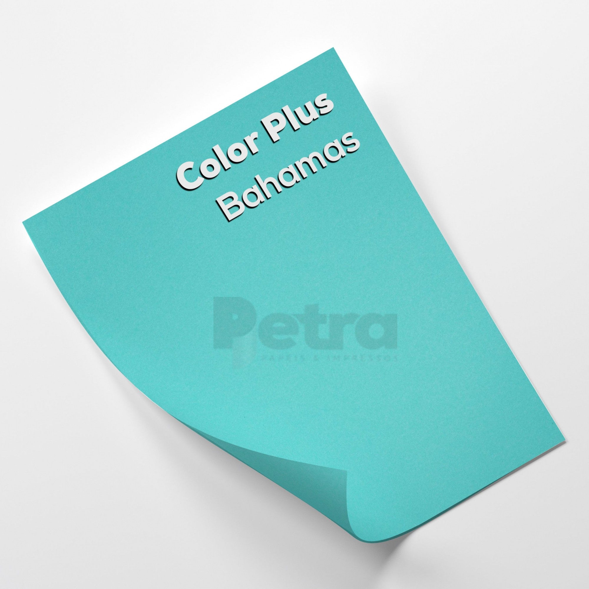 Papel Color Plus Bahamas - Azul tam. 32x65cm 180g/m² 50 Folhas