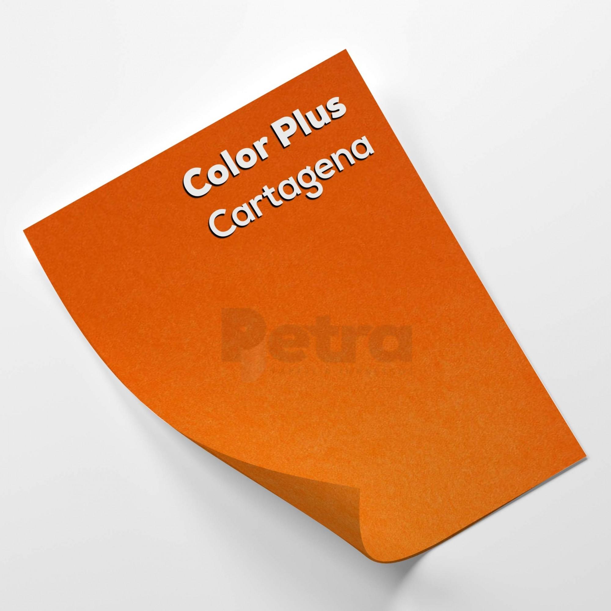 Papel Color Plus Cartagena - Laranja tam. A4 240g/m² com 20 folhas