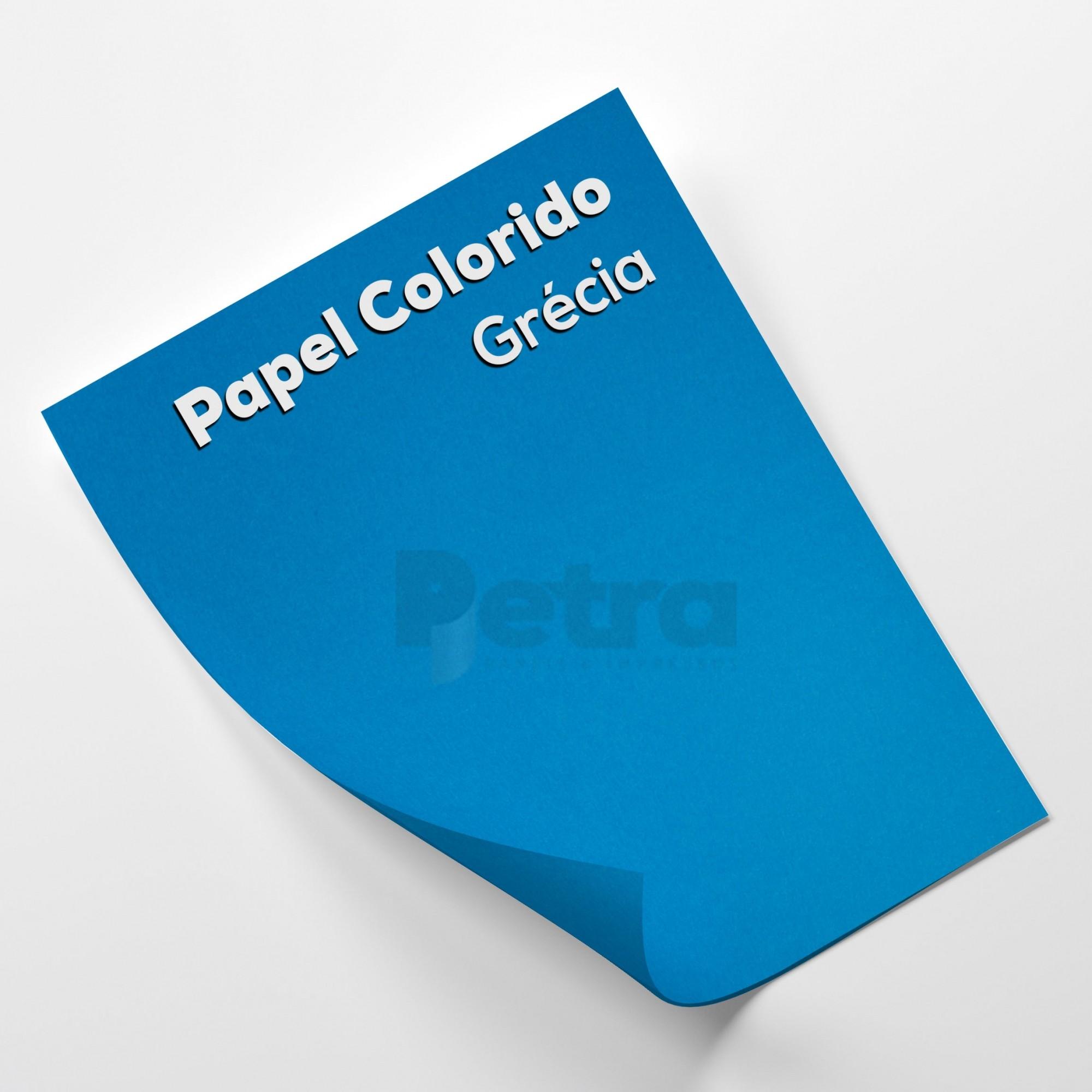 Papel Color Plus Grécia - Azul Tam. 66x96cm 180g/m² 10 Folhas