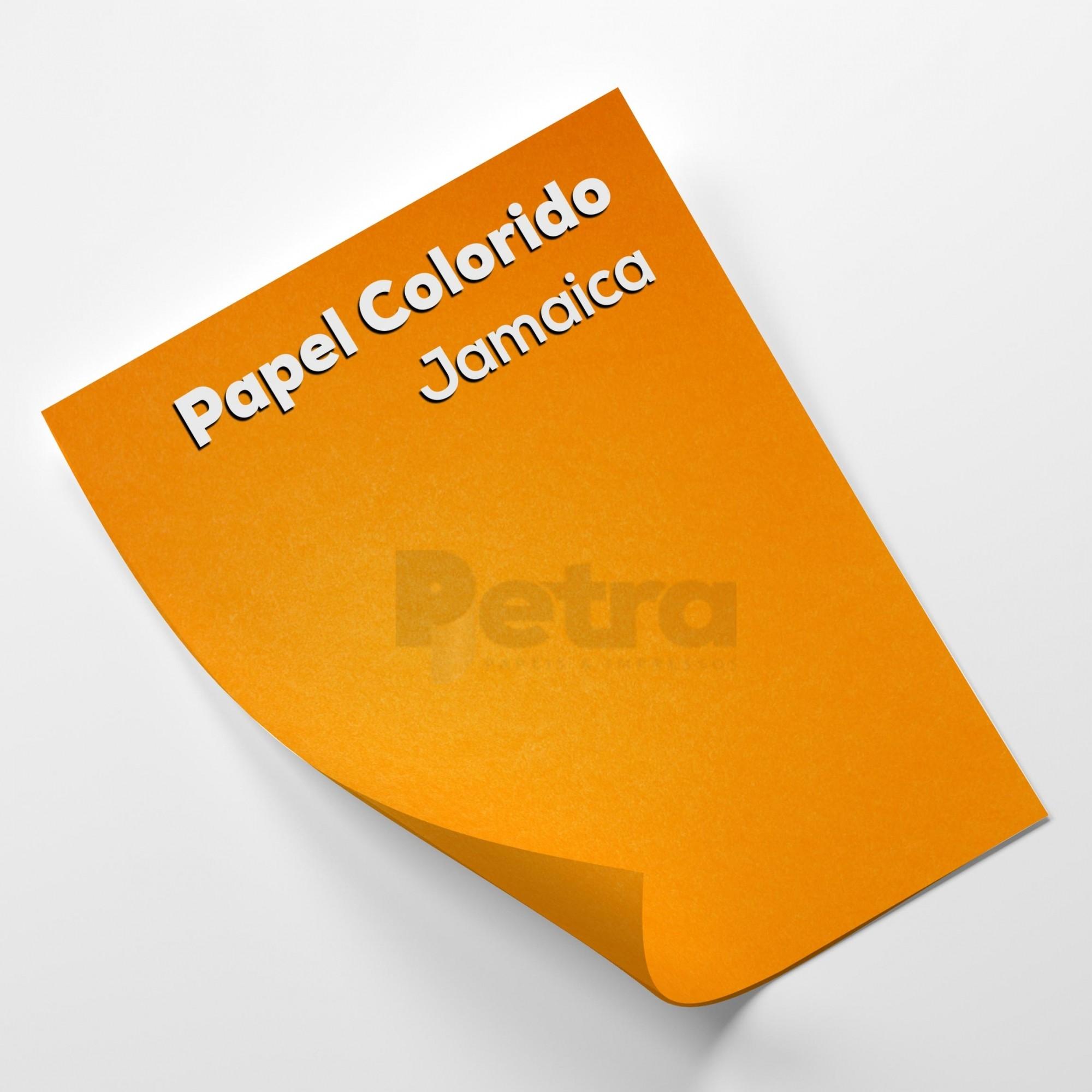 Papel Color Plus Jamaica - Laranja Tam. 66x96cm 180g/m² 10 Folhas