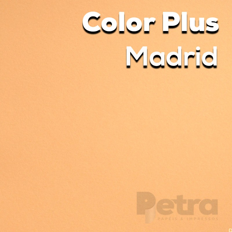 Papel Color Plus Madrid - Laranja tam. 48x66cm 180g/m²