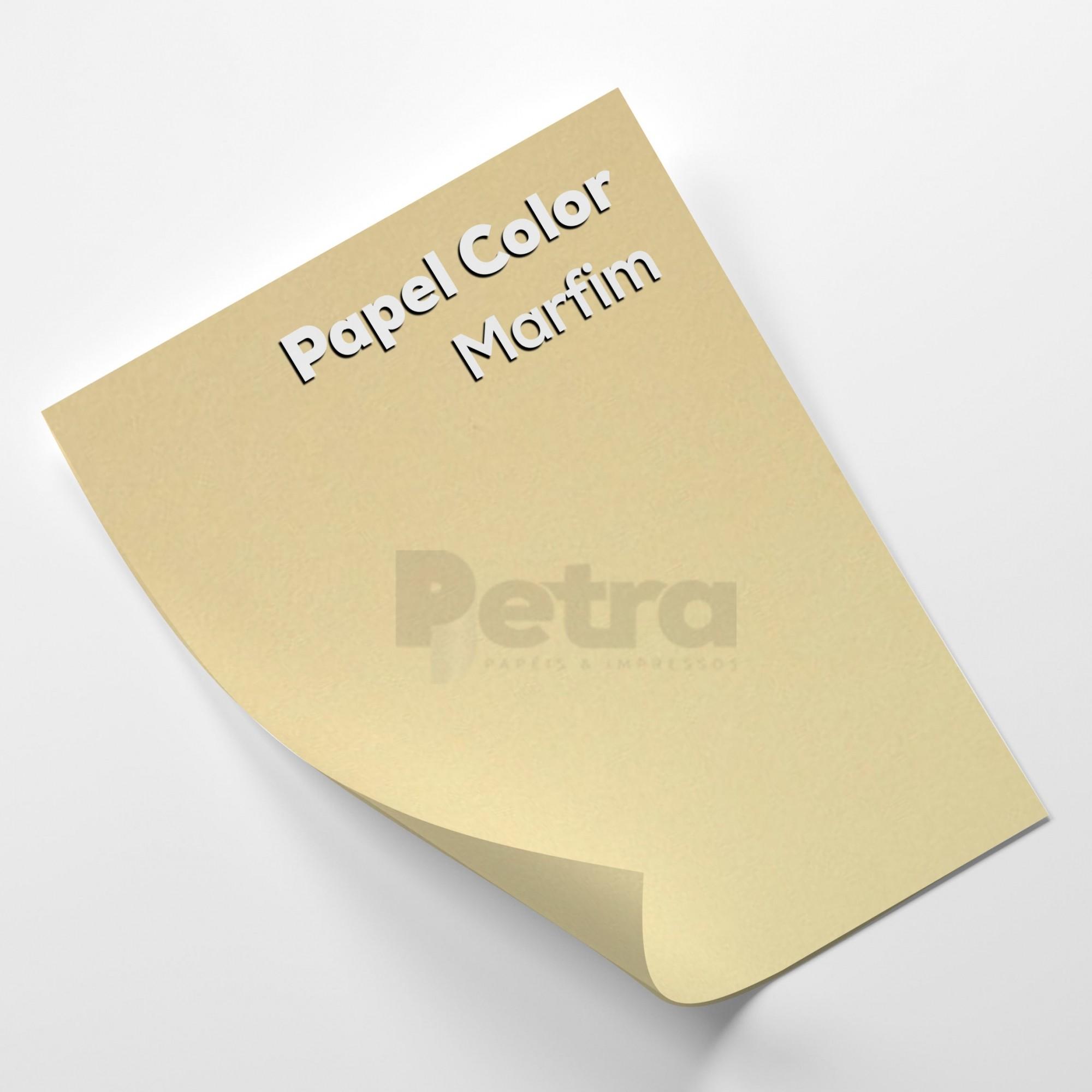 Papel Color plus Marfim - tam. A4 120g/m² com 50 folhas