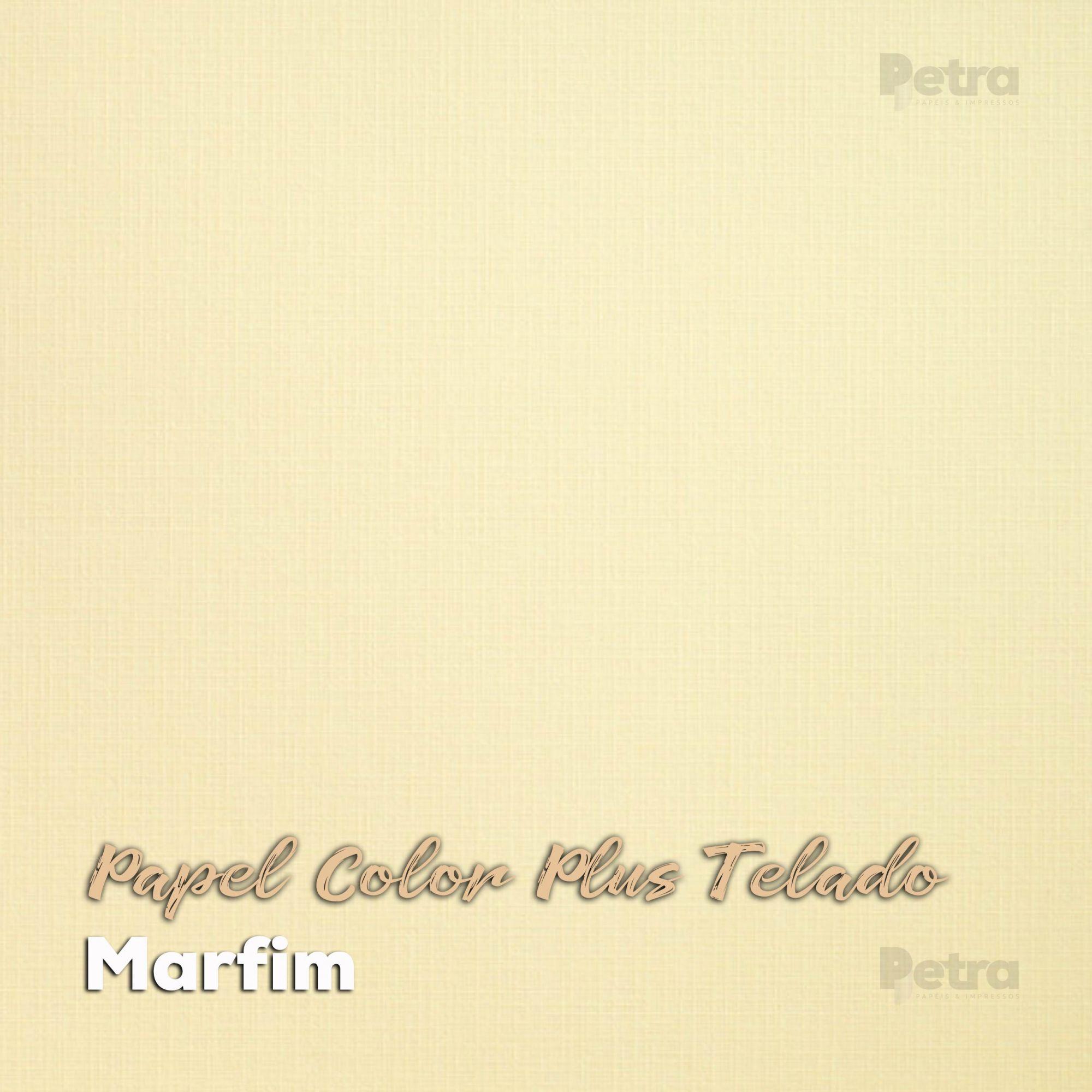 Papel Color Plus Marfim Telado - Tam. A3 180g/m² - 20 Folhas