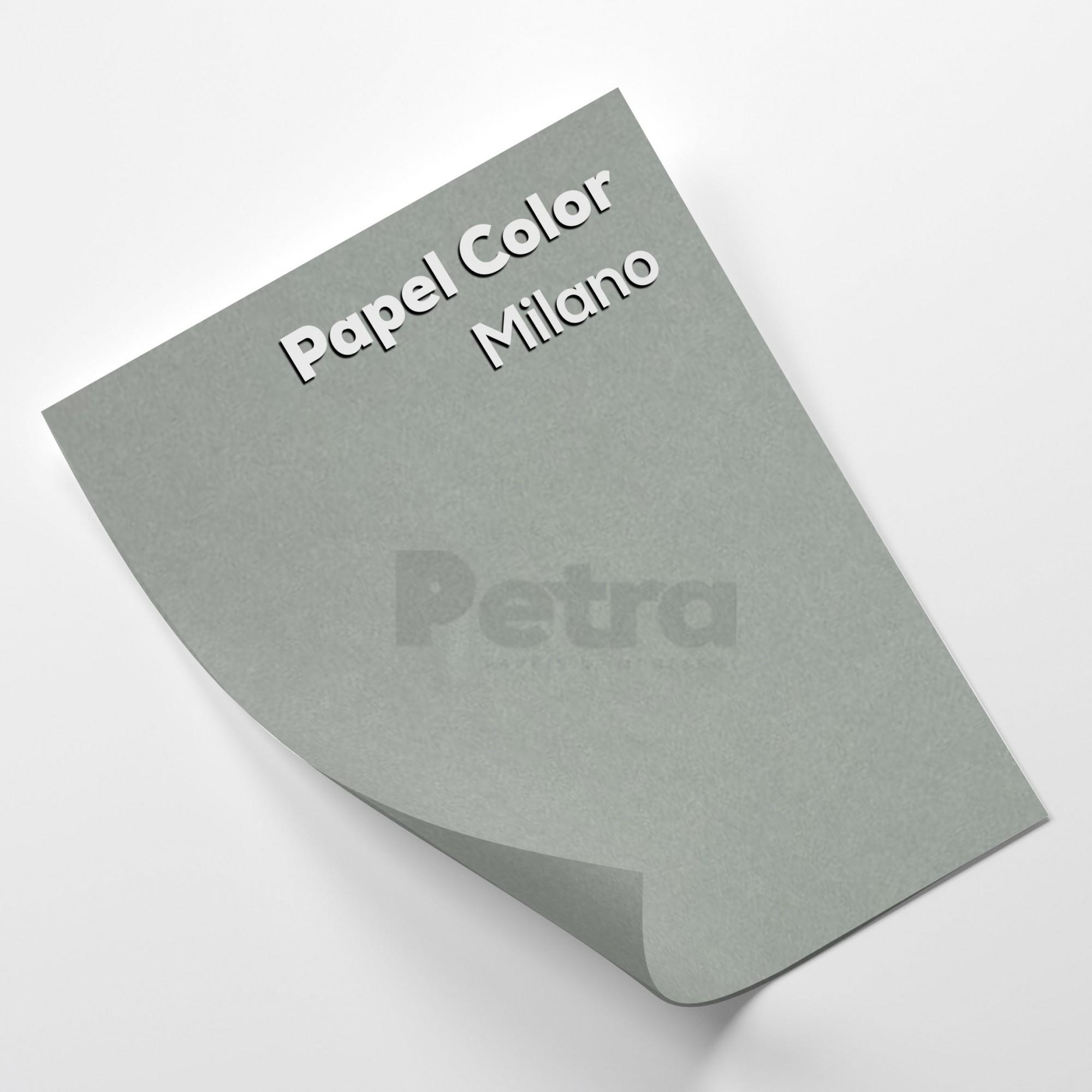 Papel Color Plus Milano - Cinza Tam. 66x96cm 180g/m² 10 Folhas