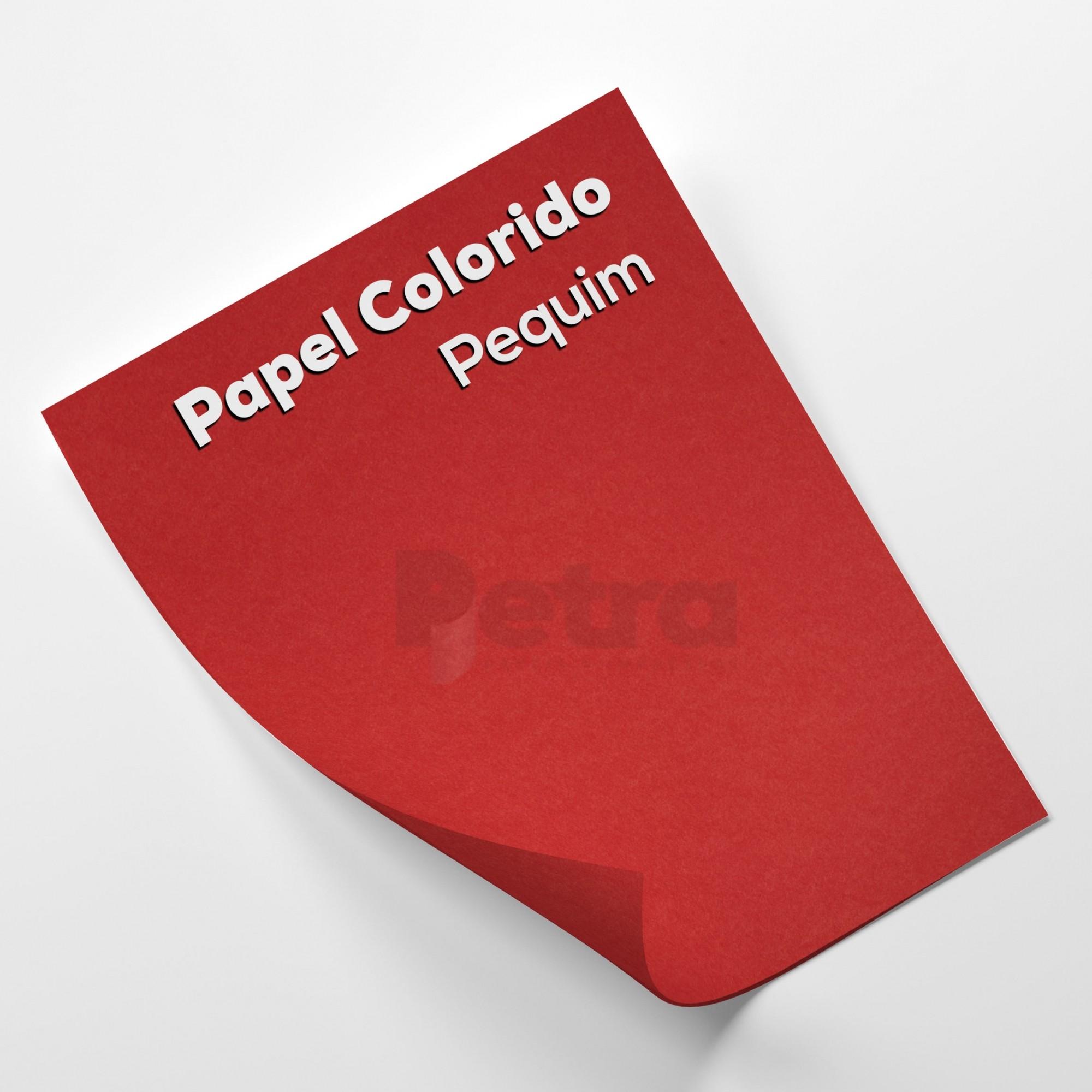 Papel Color Plus Pequim - Vermelho tam. A4 180g/m²