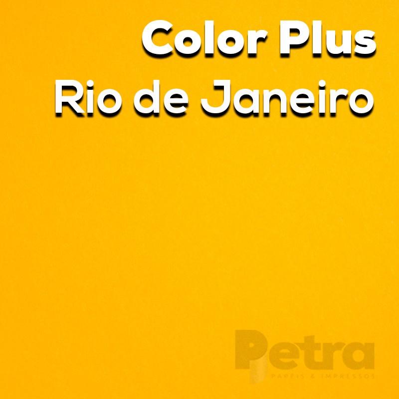 Papel Color Plus Rio de Janeiro - Amarelo tam. 30,5x30,5cm 180g/m²