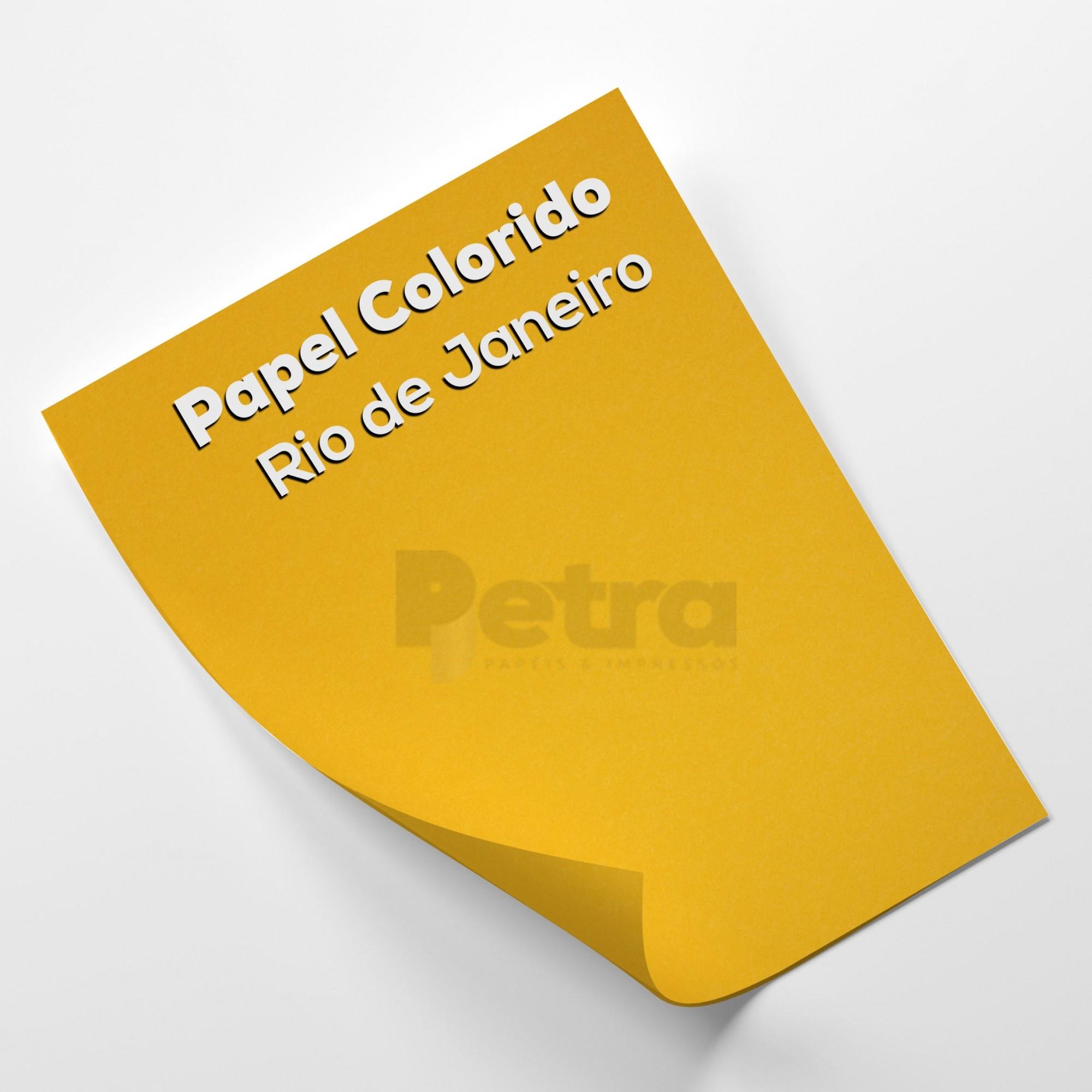 Papel Color Plus Rio de Janeiro - Amarelo tam. 32x65cm 180g/m² 50 Folhas