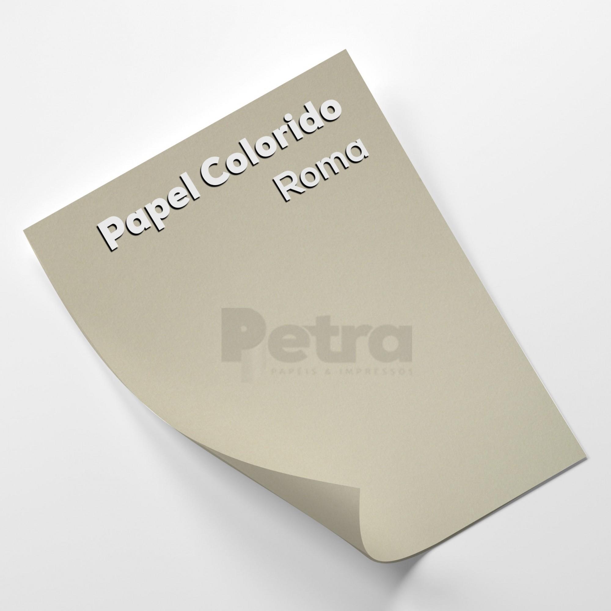 Papel Color plus Roma - Cinza - tam. A4 120g/m² com 50 folhas