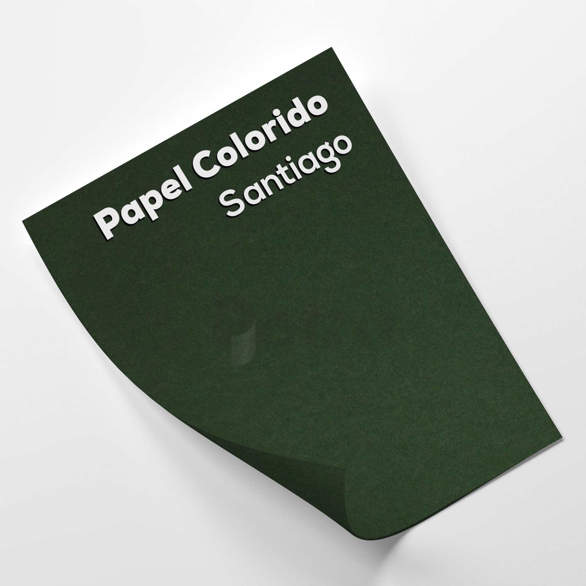 Papel Color Plus Santiago - Verde Tam. 66x96cm 180g/m² 10 Folhas