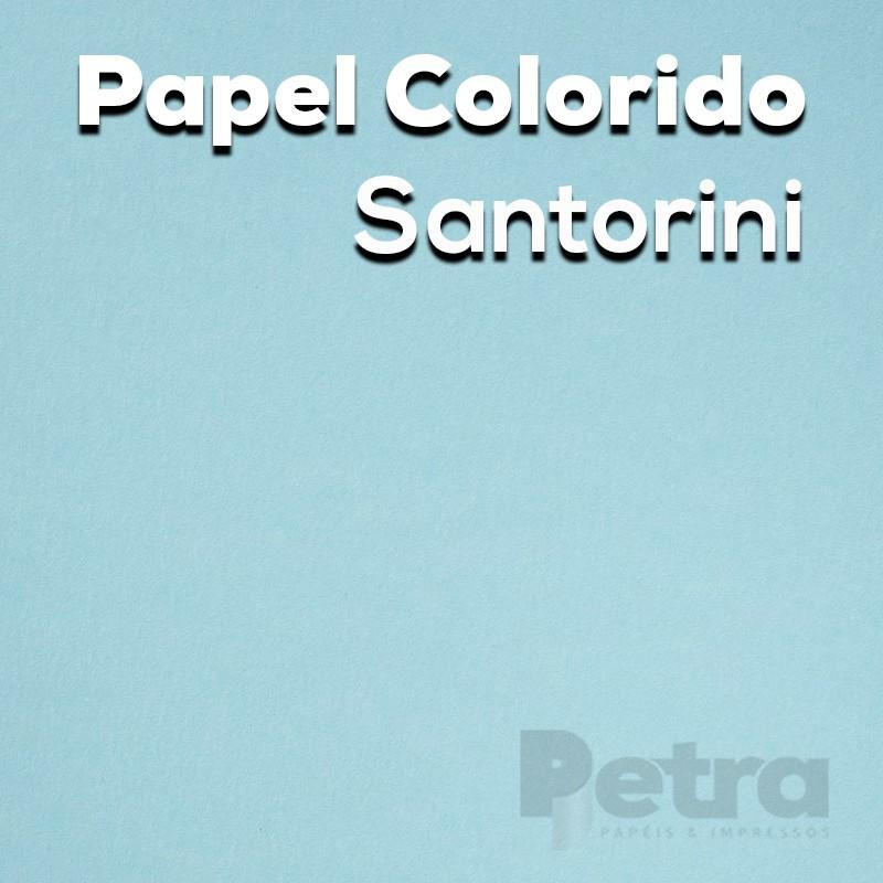 Papel Color Plus Santorini - Azul Tam. 66x96cm 180g/m² 10 Folhas