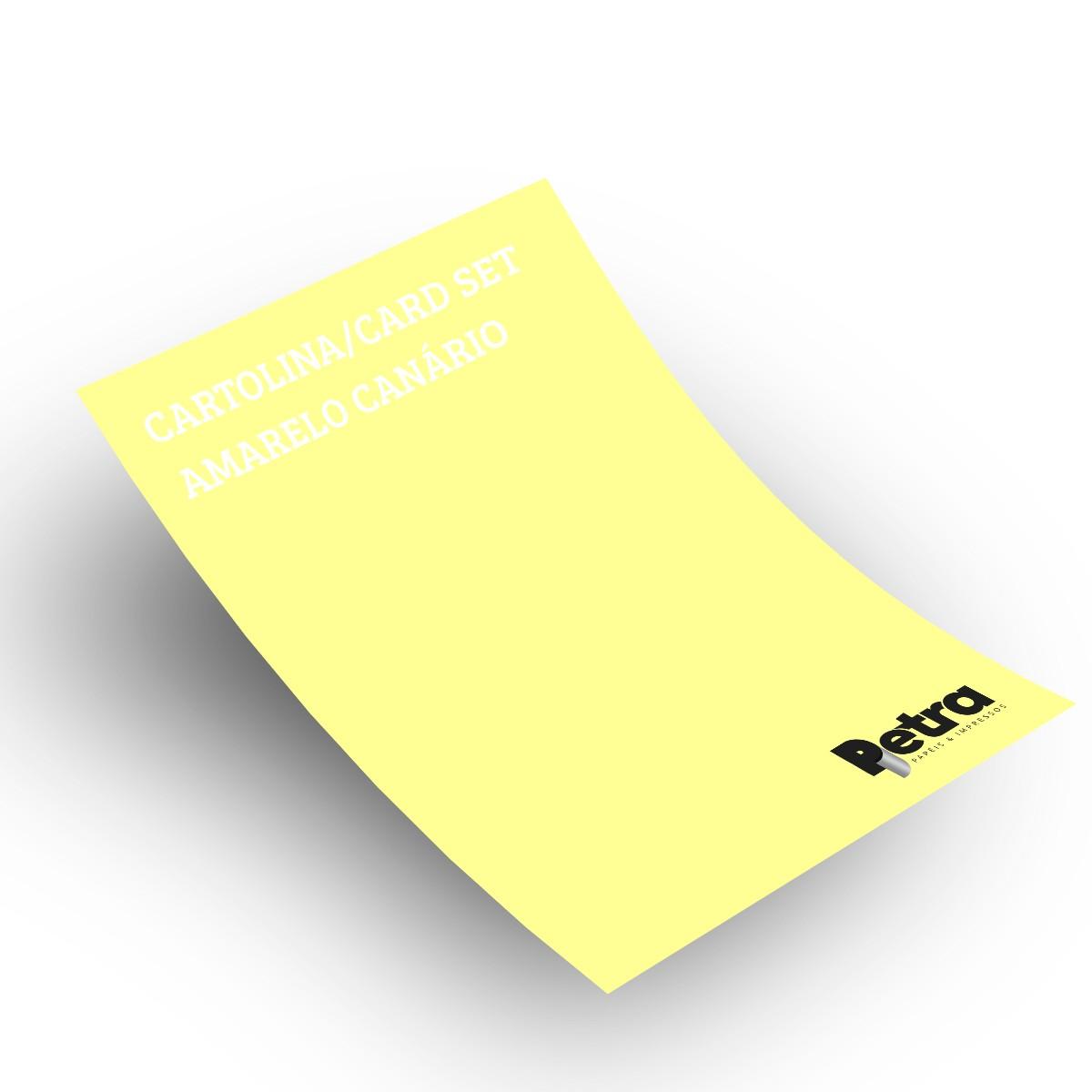 Papel Color Set Amarelo Canário Tam. A4 180g/m² - 50 folhas
