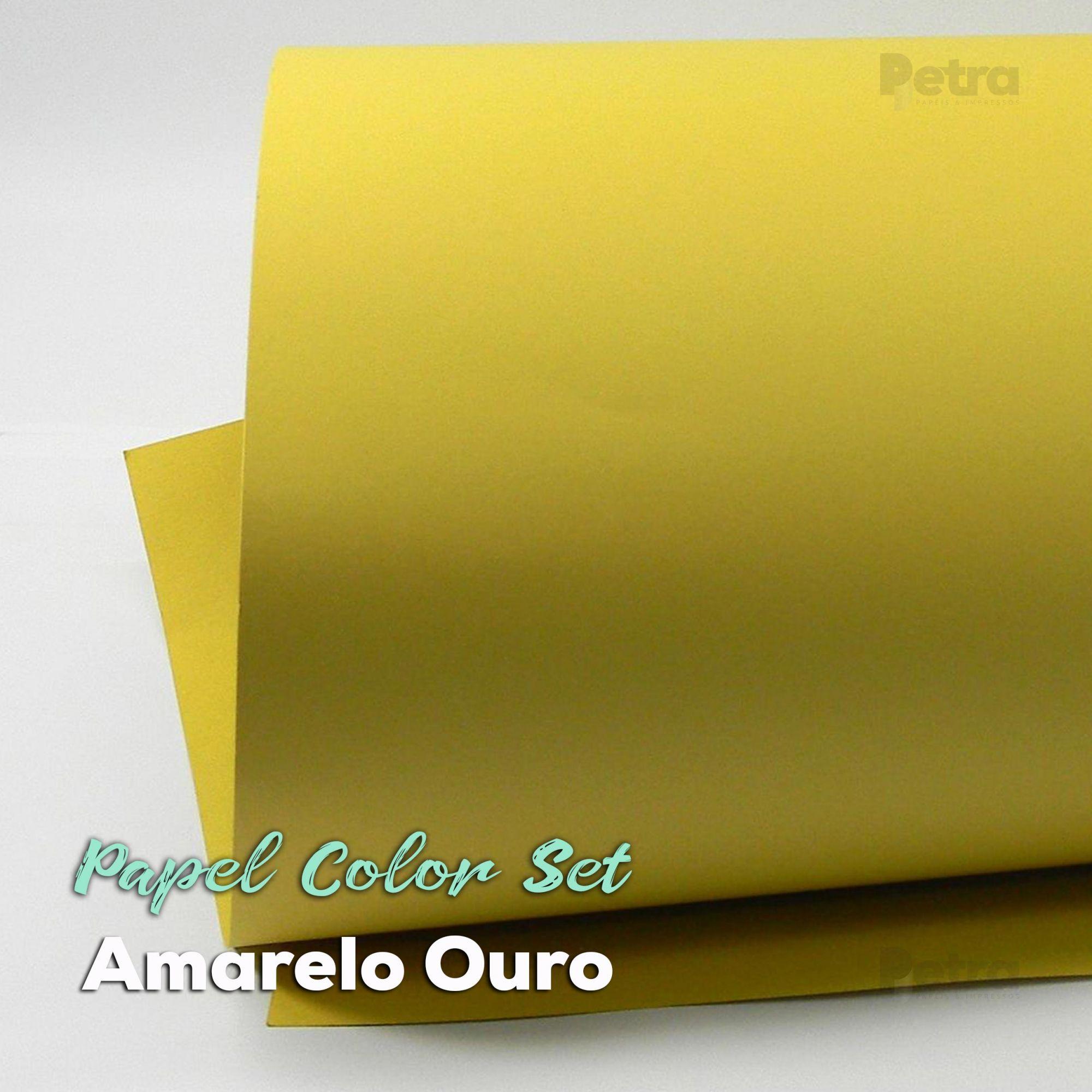 Papel Color Set Amarelo Ouro Tam. A4 180g/m² - 50 folhas