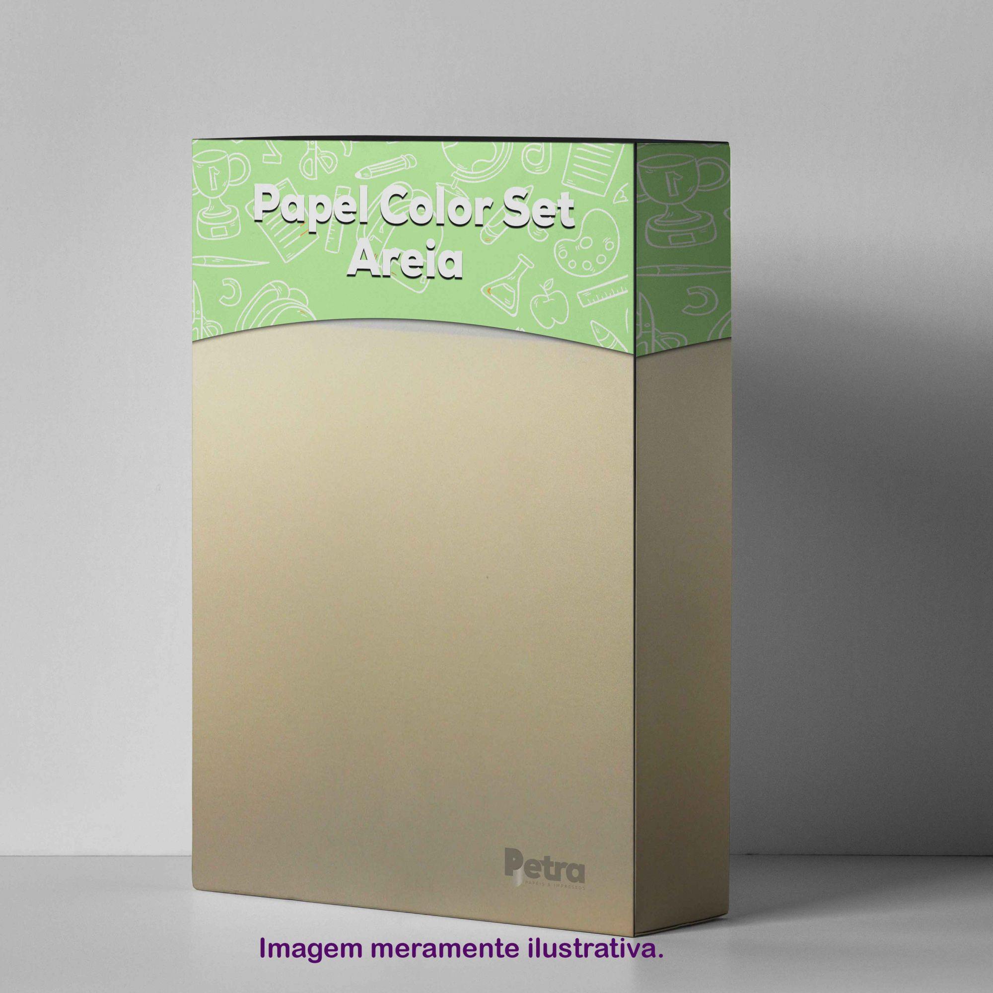 Papel Color Set Areia Tam. A4 180g/m² - 50 folhas