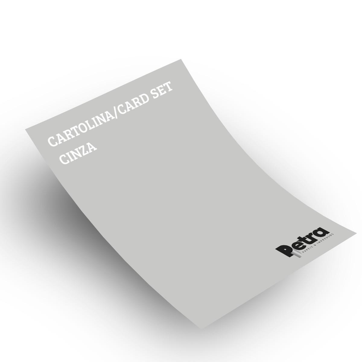 Papel Color Set Cinza Tam. A4 180g/m² - 50 folhas
