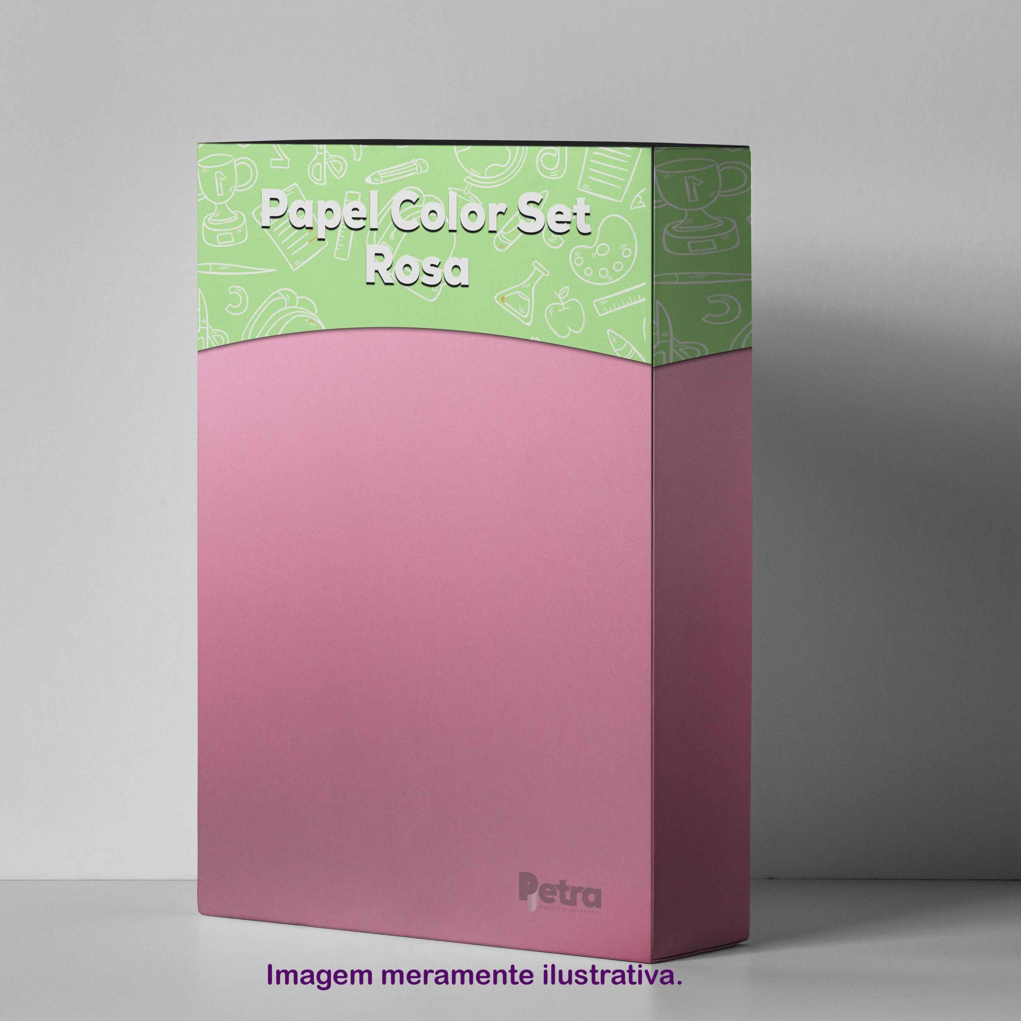 Papel Color Set Rosa Tam. A4 180g/m² - 50 folhas