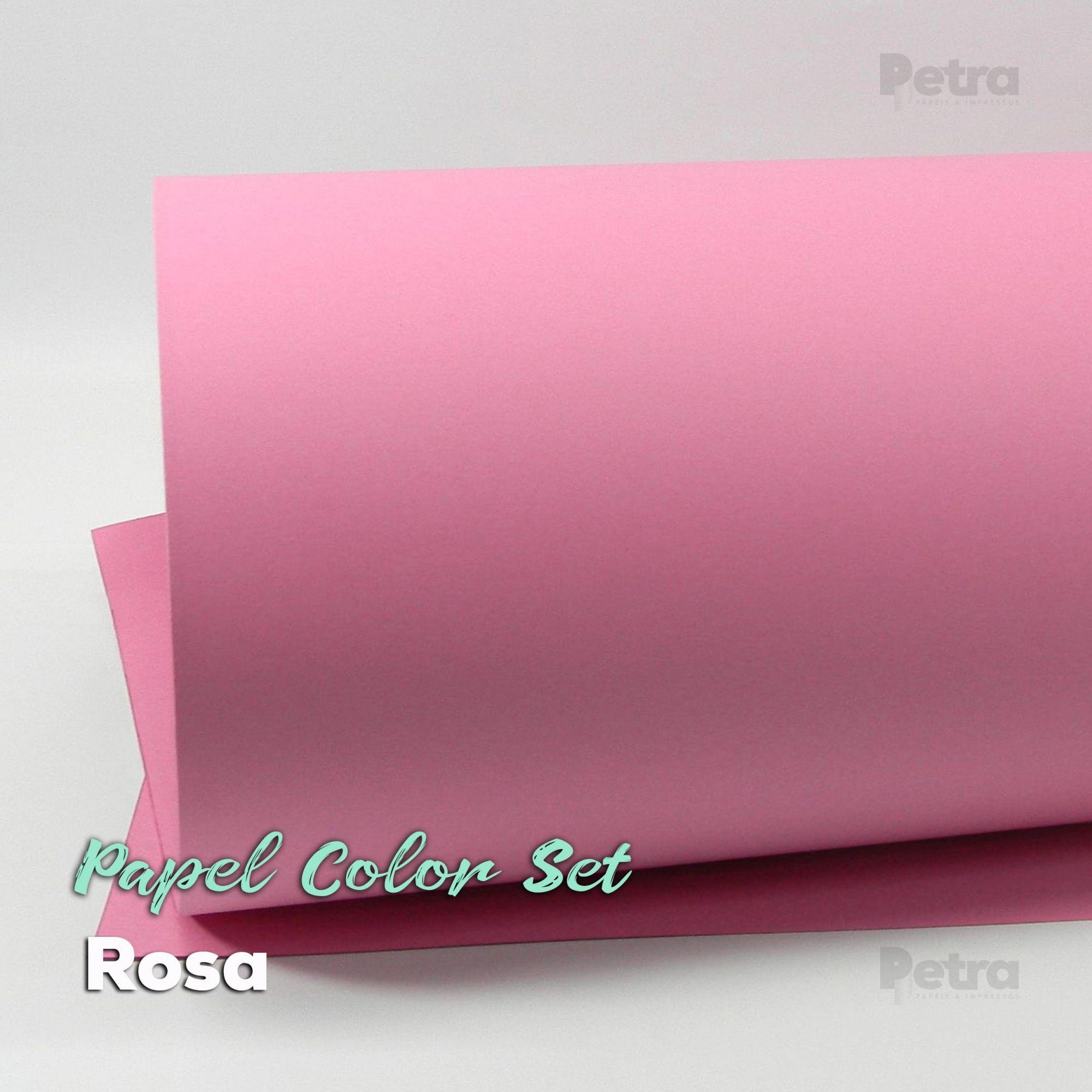 Papel Color Set Rosa Tam. A4 180g/m² - 50 folhas