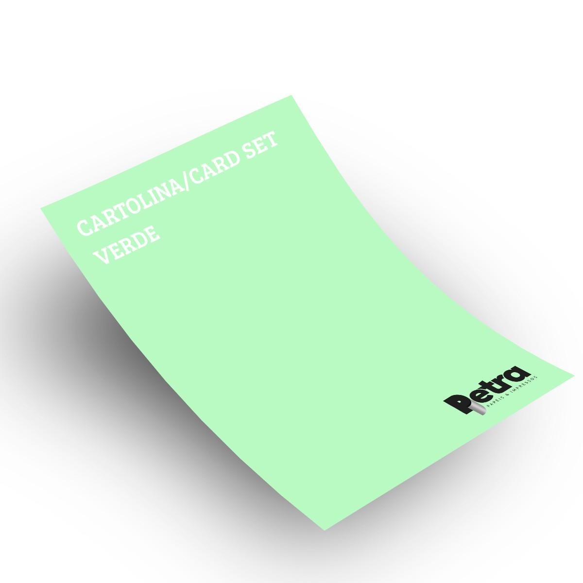 Papel Color Set Verde Claro Tam. A4 180g/m² - 50 folhas