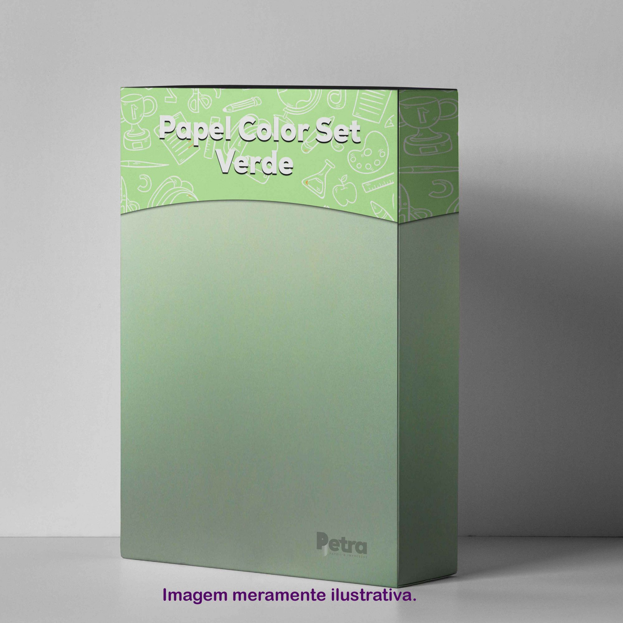 Papel Color Set Verde Claro Tam. A4 180g/m² - 50 folhas