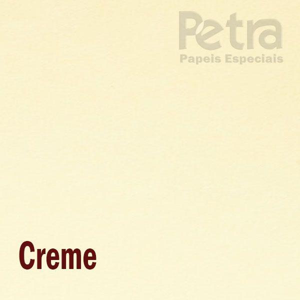 Papel Colorido Creme tam. 32x65cm 180g/m² 50 Folhas