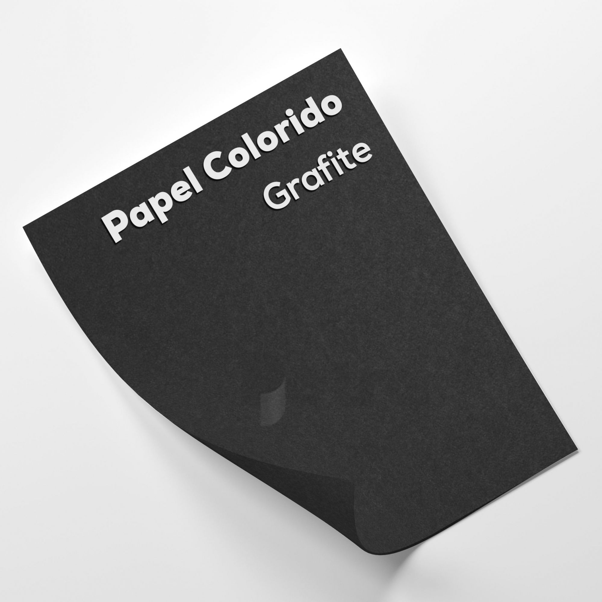 Papel Colorido Grafite - Cinza -  tam. A4 180g/m²