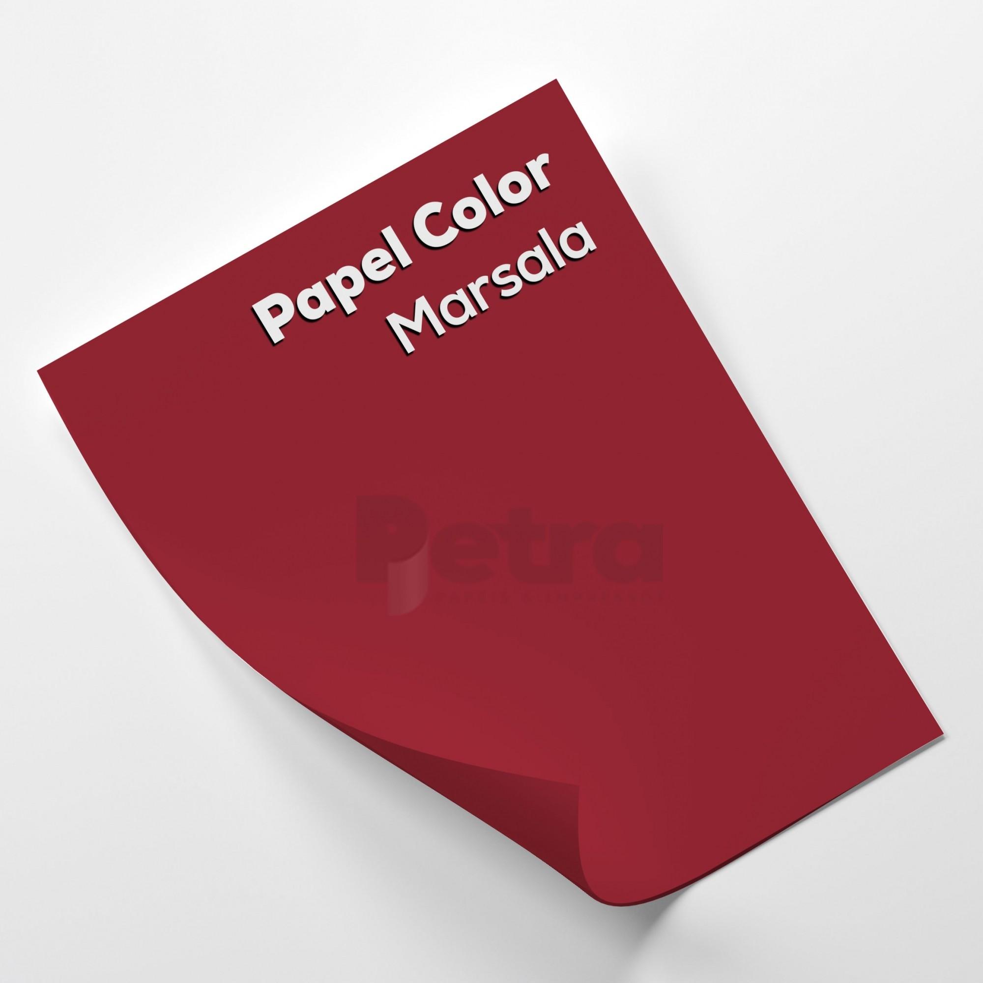 Papel Colorido Marsala - Vermelho tam. A4 180g/m²