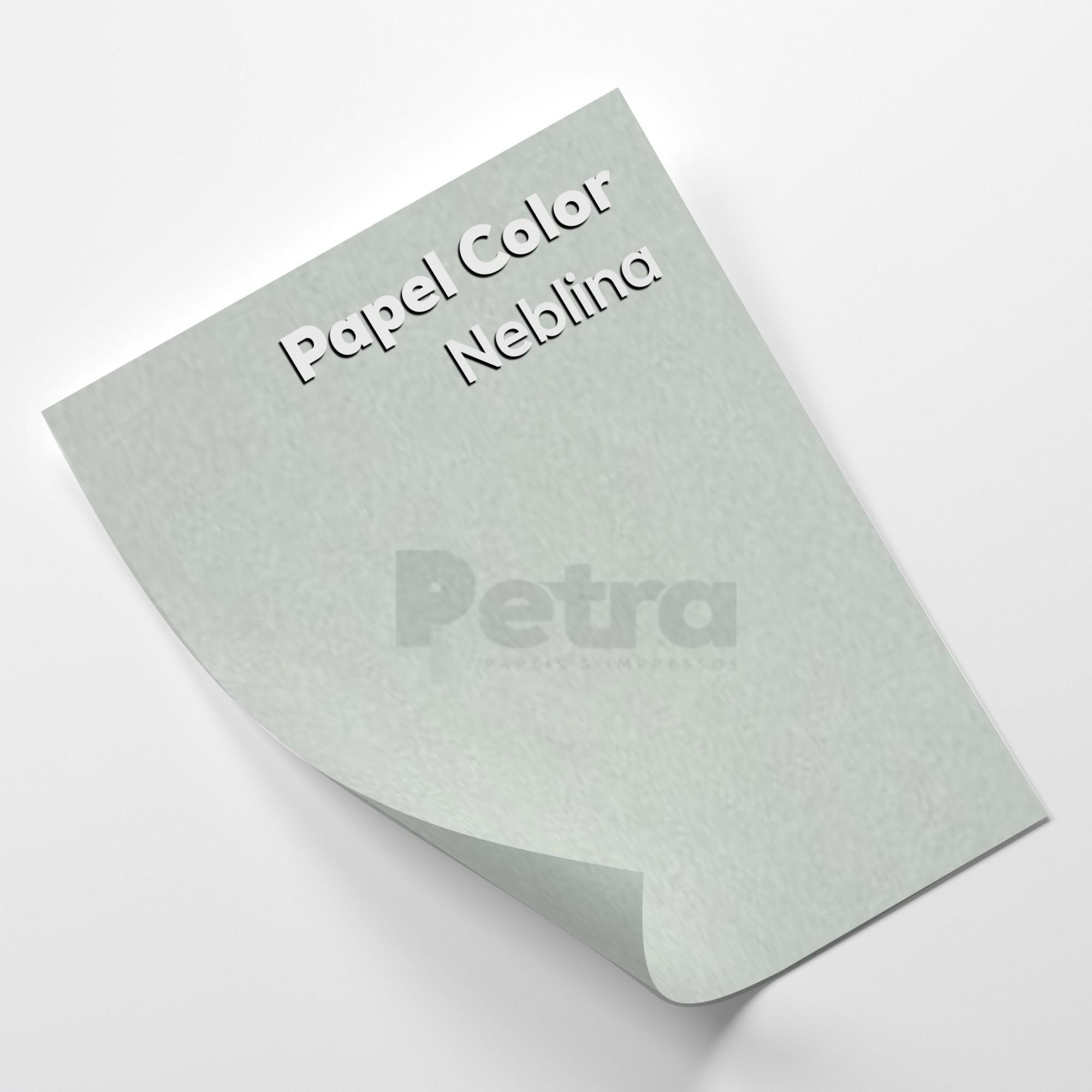 Papel Colorido Neblina - Cinza Tam. 66x96cm 180g/m² 10 Folhas