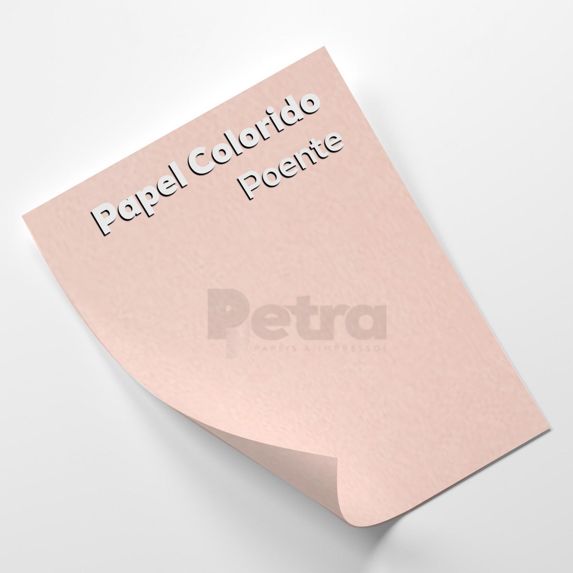 Papel Colorido Poente - Rosa Tam. 66x96cm 180g/m² 10 Folhas