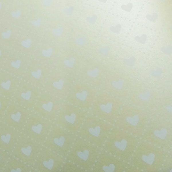 Papel Coração Ref 02 - Pérola Champanhe com Branco - Tam. 30,5x30,5cm - 180g/m²