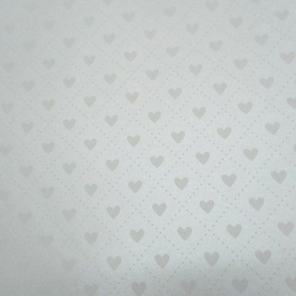 Papel Coração Ref 02 - Pérola com Branco - Tam. A4 - 180g/m²