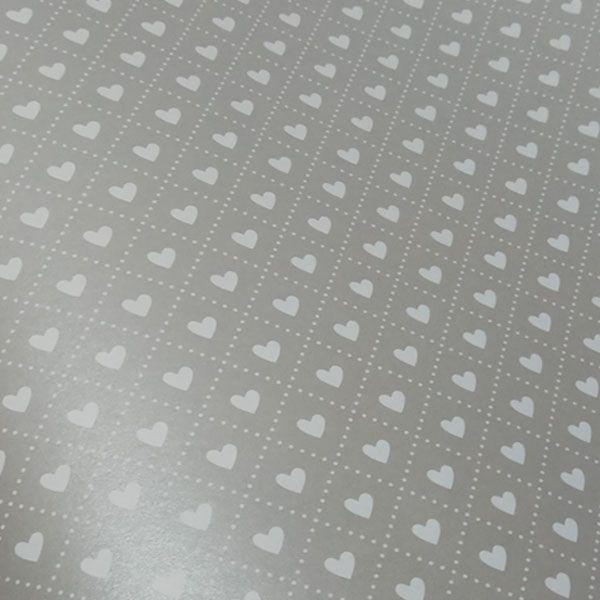 Papel Coração Ref 02 - Pérola Prata com Branco - Tam. A3 - 180g/m²