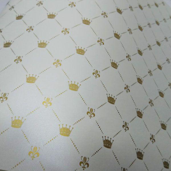 Papel Coroa - Pérola com Dourado - Tam. 47x65cm - 180g/m²