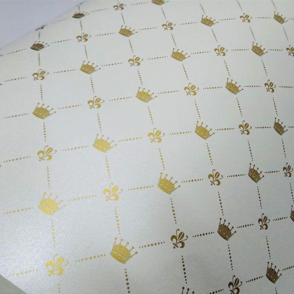 Papel Coroa - Pérola com Dourado - Tam. A4 - 180g/m²