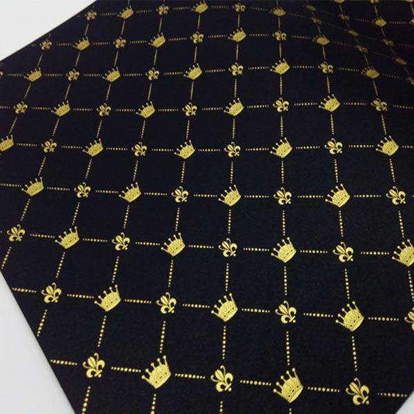 Papel Coroa - Preto com Dourado - Tam. A4 - 180g/m²