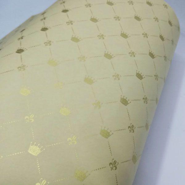 Papel Coroa - Sahara com Dourado - Tam. 32x65cm - 180g/m²