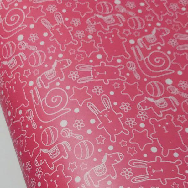 Papel Cute - Pérola Vermelho com Branco - Tam. 47x65cm - 180g/m²