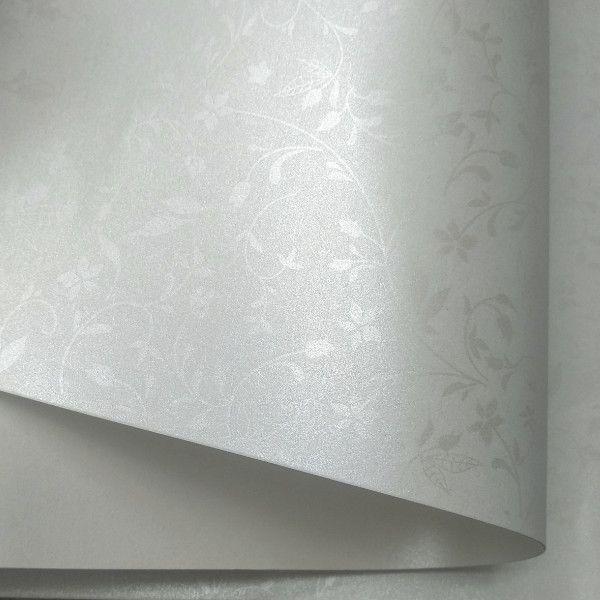 Papel Floral Ref 03 -  Pérola com pérola  - Tam. A4 - 180g/m²