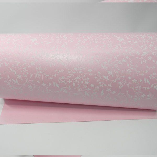 Papel Floral Ref 03 - Rosa com Branco - Tam. 30,5x30,5 - 180g/m²