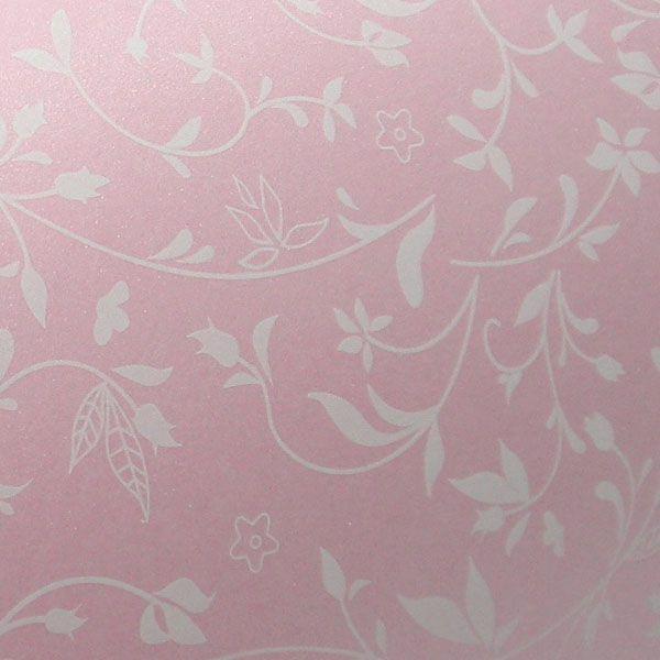 Papel Floral Ref 03 - Rosa com Branco - Tam. 47x65cm - 180g/m²