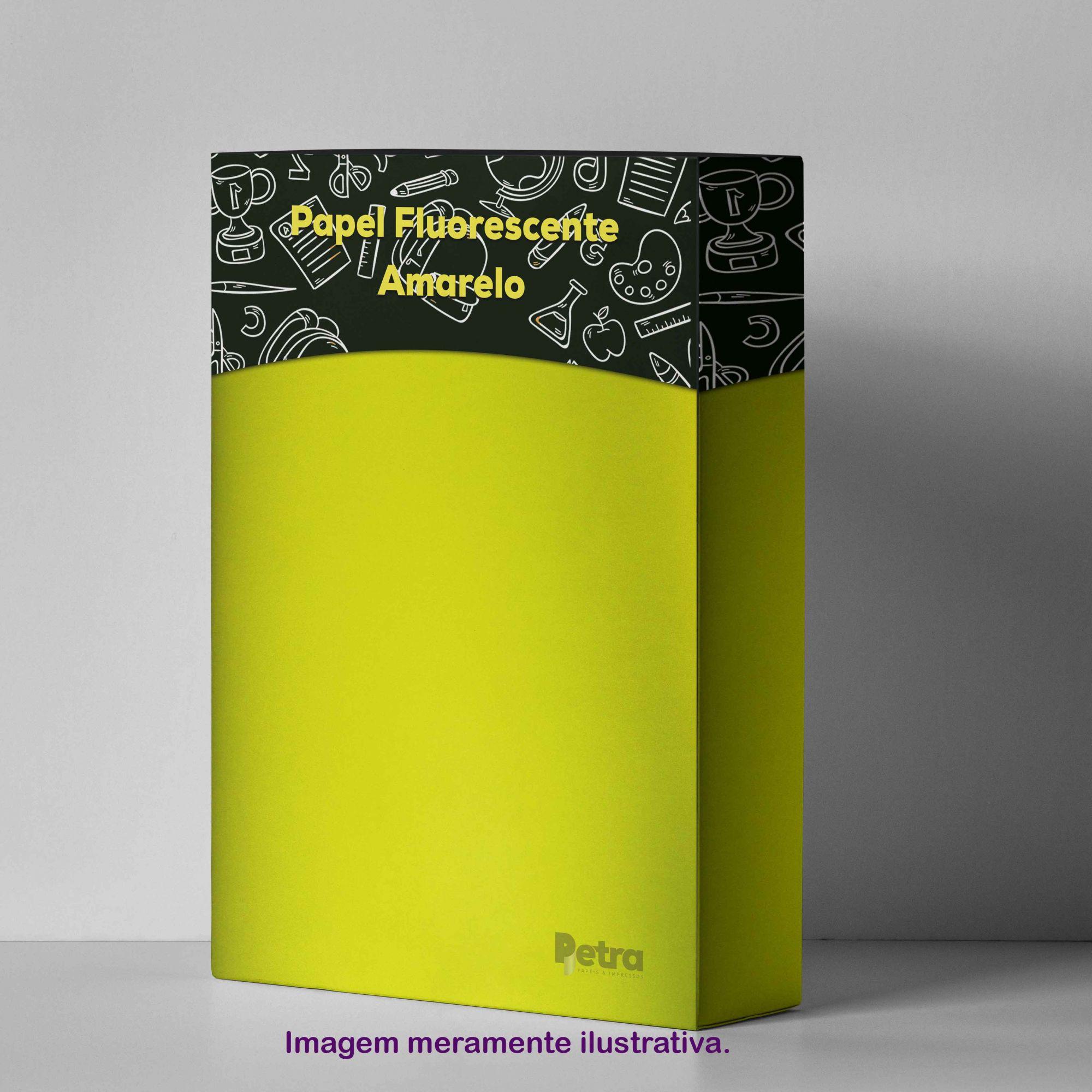 Papel Fluorescente Lumicor Amarelo Alegria Tam. A4 180g/m² - 20 Folhas