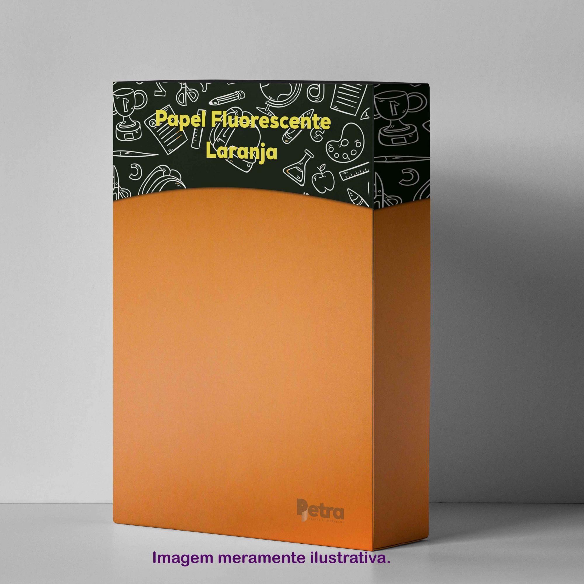Papel Fluorescente Lumicor Laranja Intenso Tam. A4 180g/m² - 20 Folhas