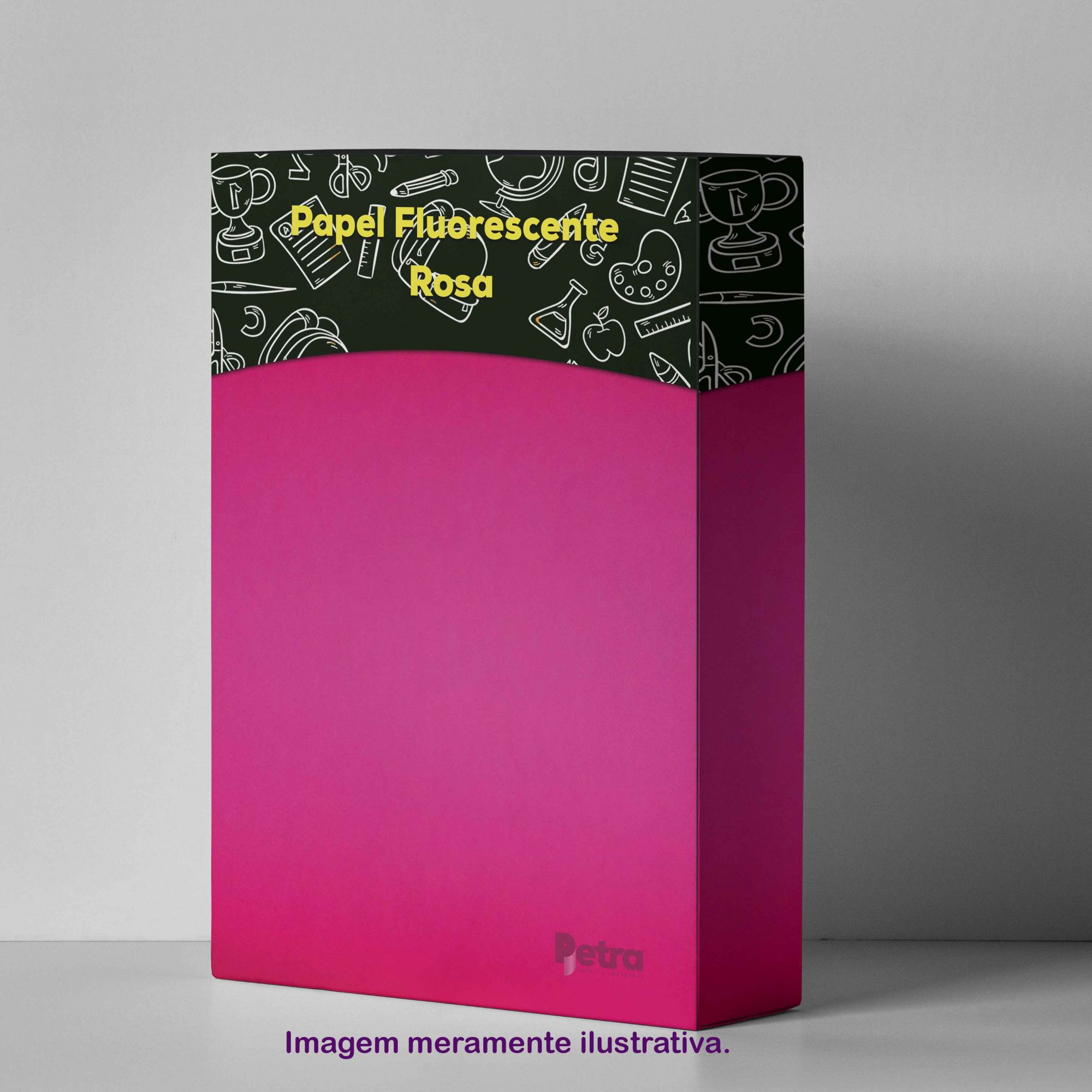 Papel Fluorescente Lumicor Rosa Alegria Tam. A4 180g/m² - 20 Folhas