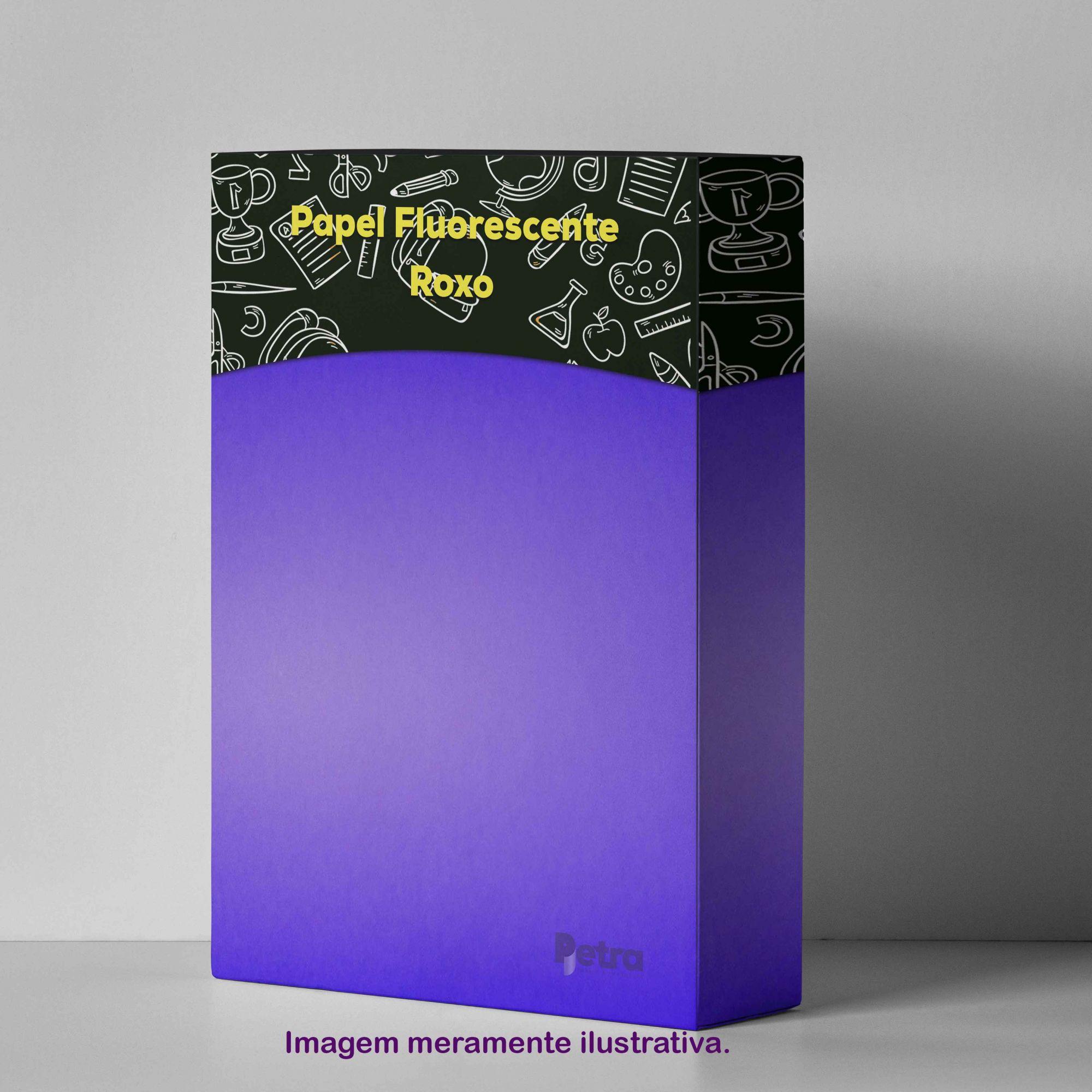 Papel Fluorescente Lumicor Roxo Vibrante Tam. A4 180g/m² - 20 Folhas