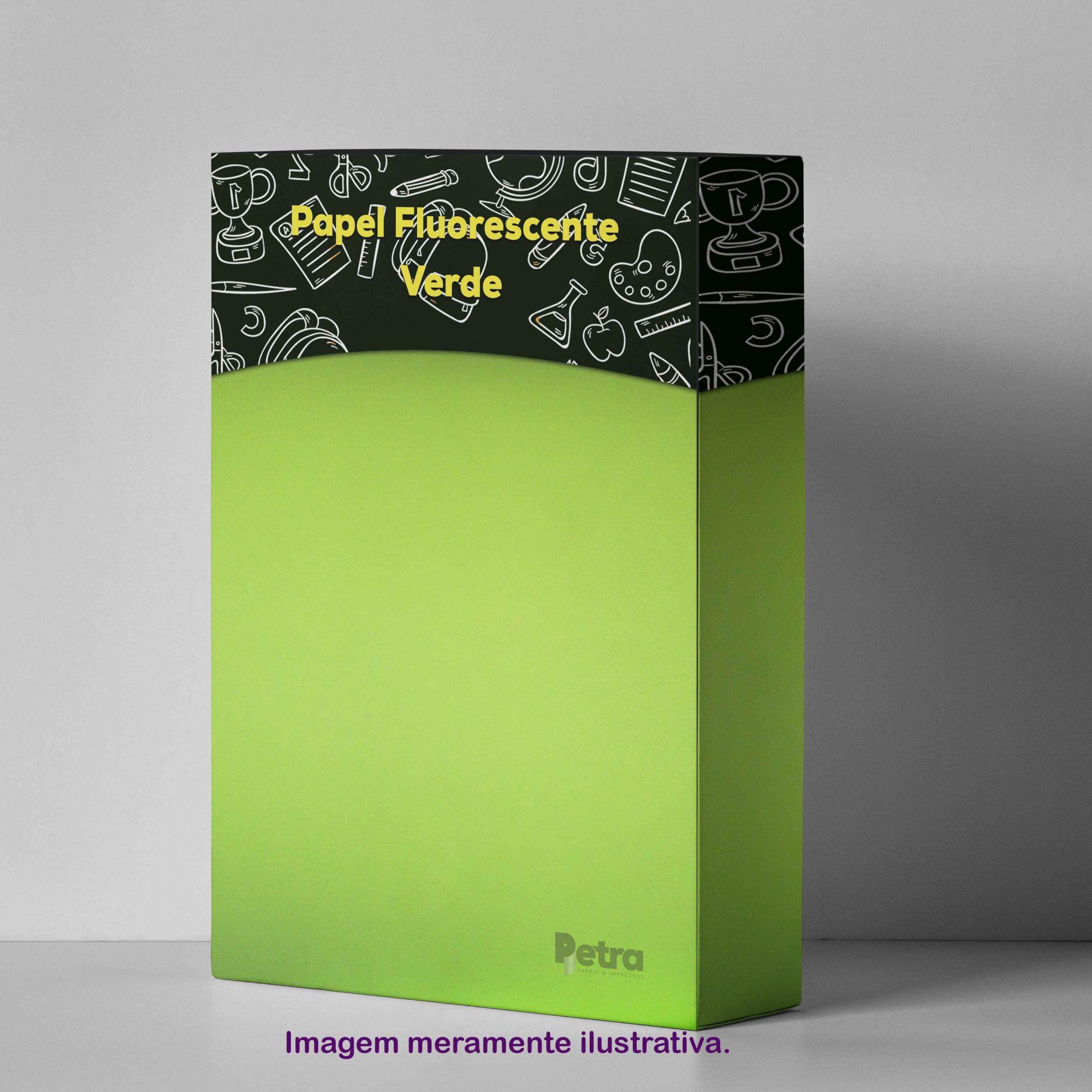 Papel Fluorescente Lumicor Verde Refrescante Tam. A4 180g/m² - 20 Folhas
