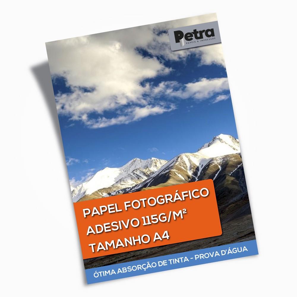 Papel Fotográfico Adesivo 115g/m² - Tam: A4 - 20 Folhas