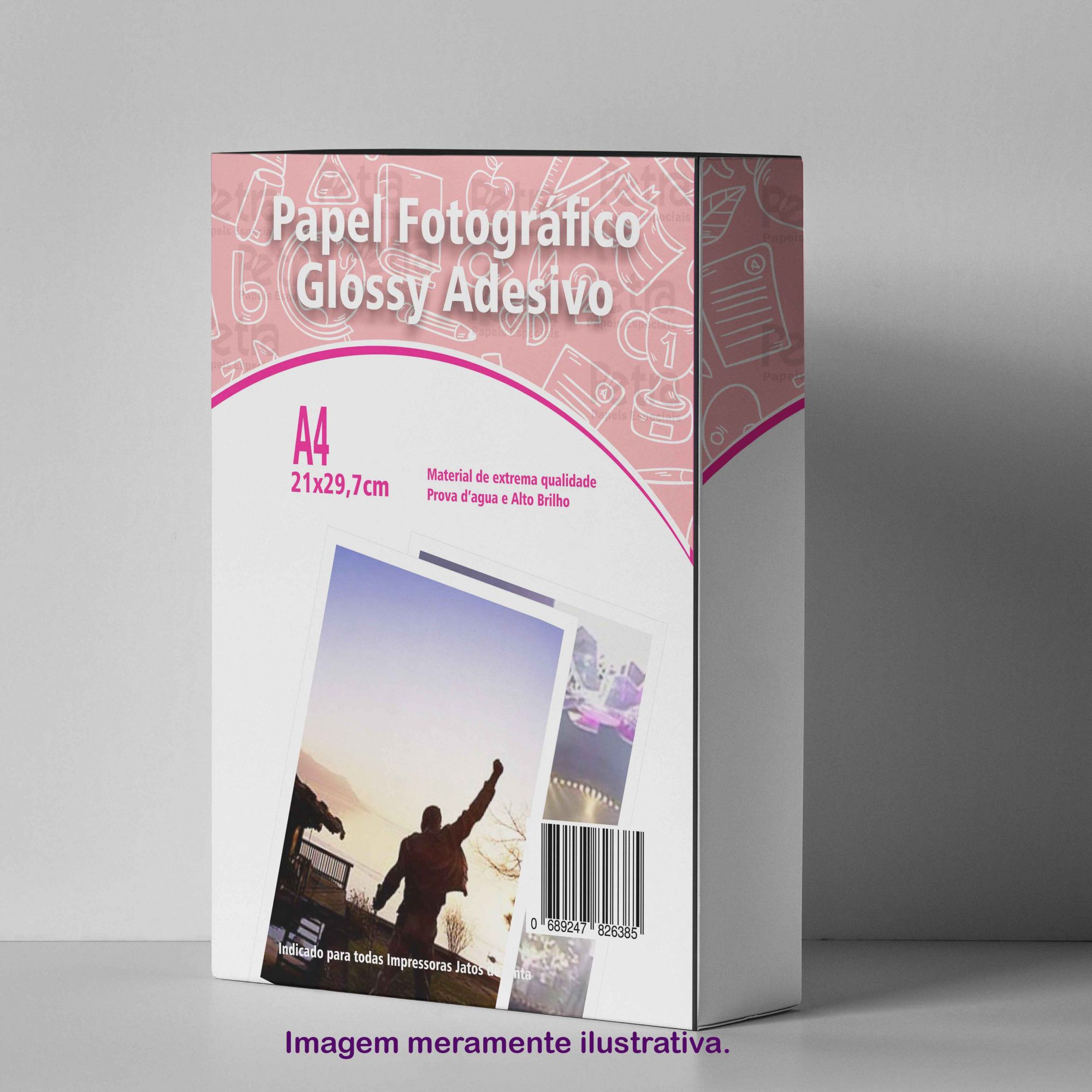 Papel Fotográfico Adesivo 135g/m² - Tam: A4 20 Folhas