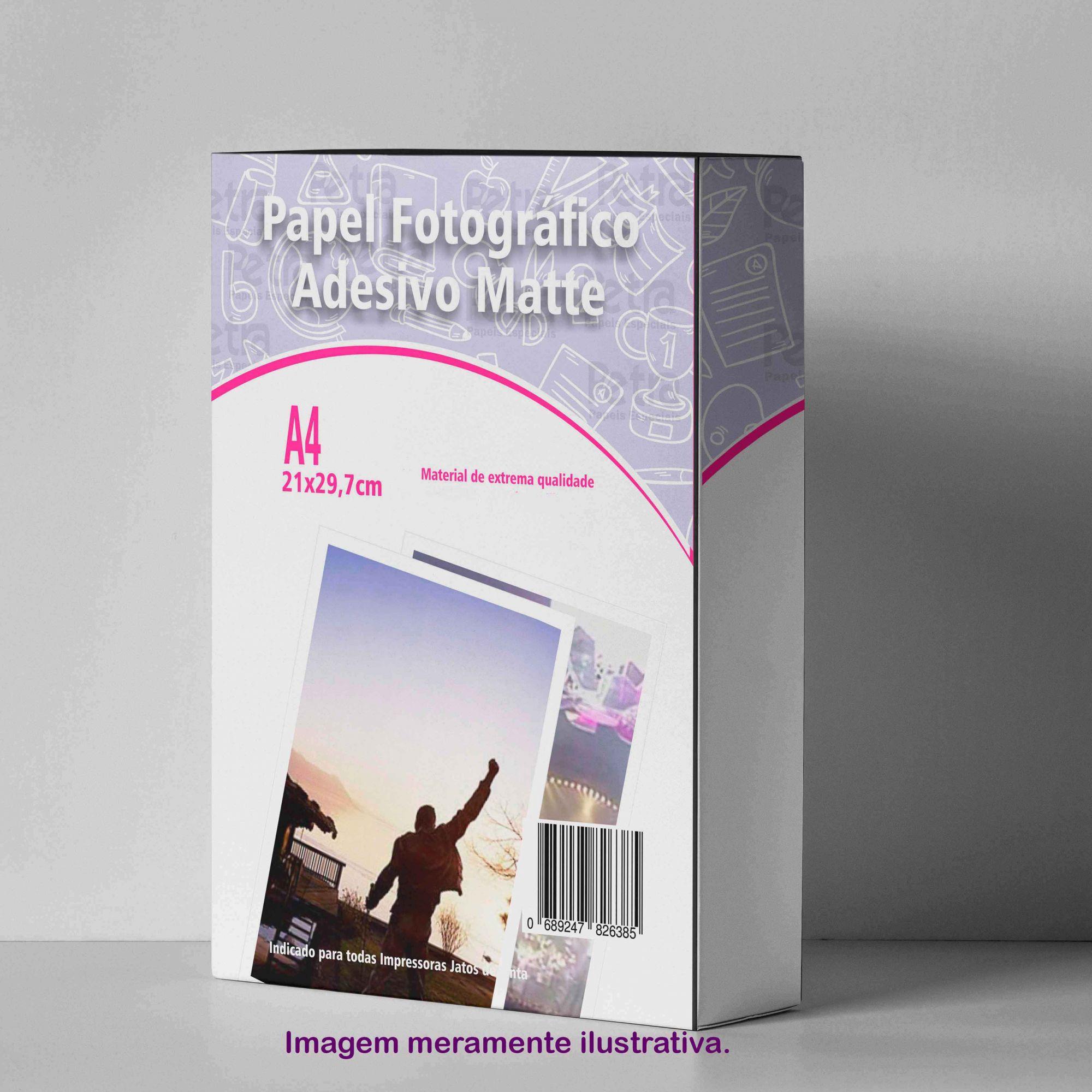 Papel Fotográfico Adesivo (Fosco) Matte 128g/m² A4 - 20 folhas