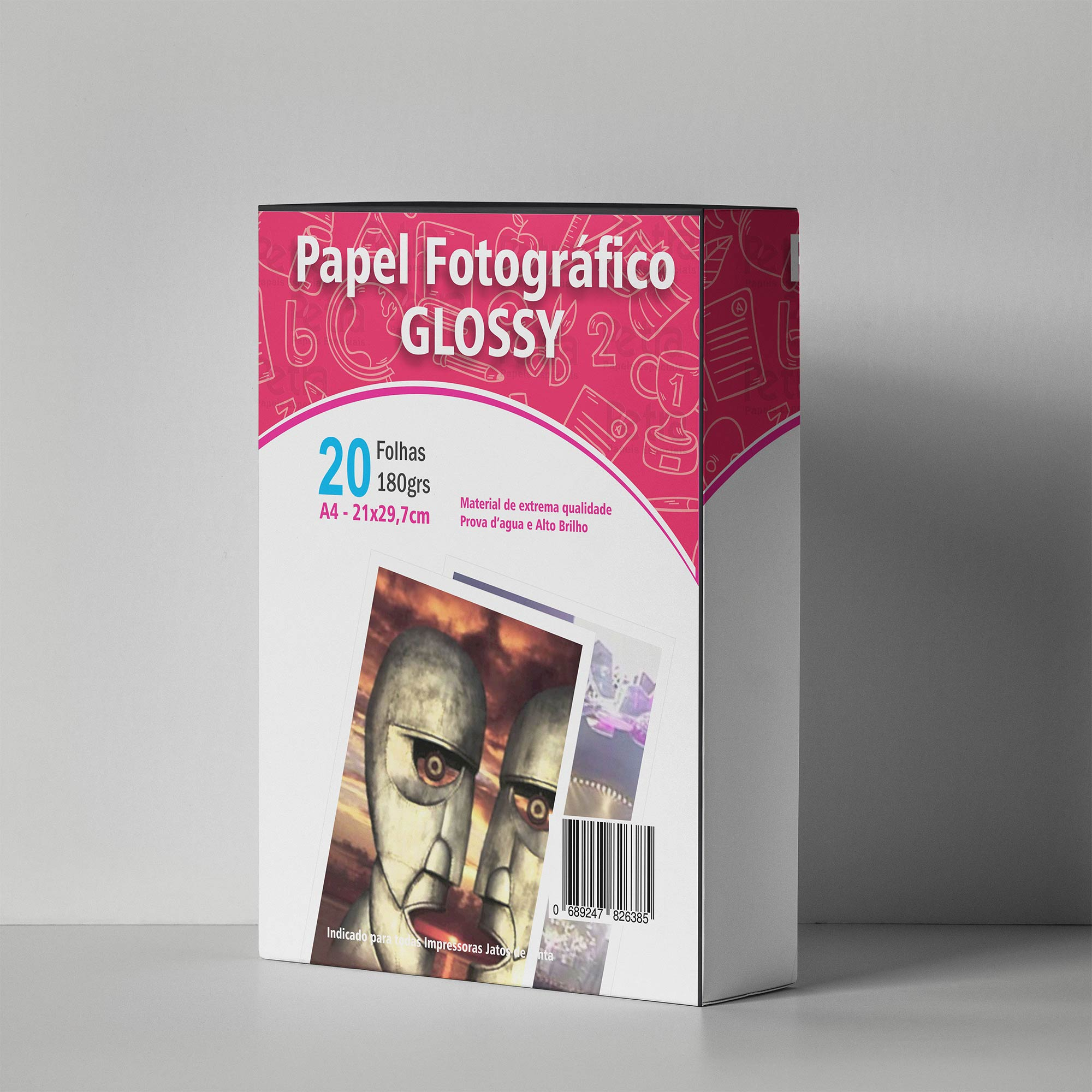 Papel Fotográfico Glossy A4 180g/m² - 20 Folhas