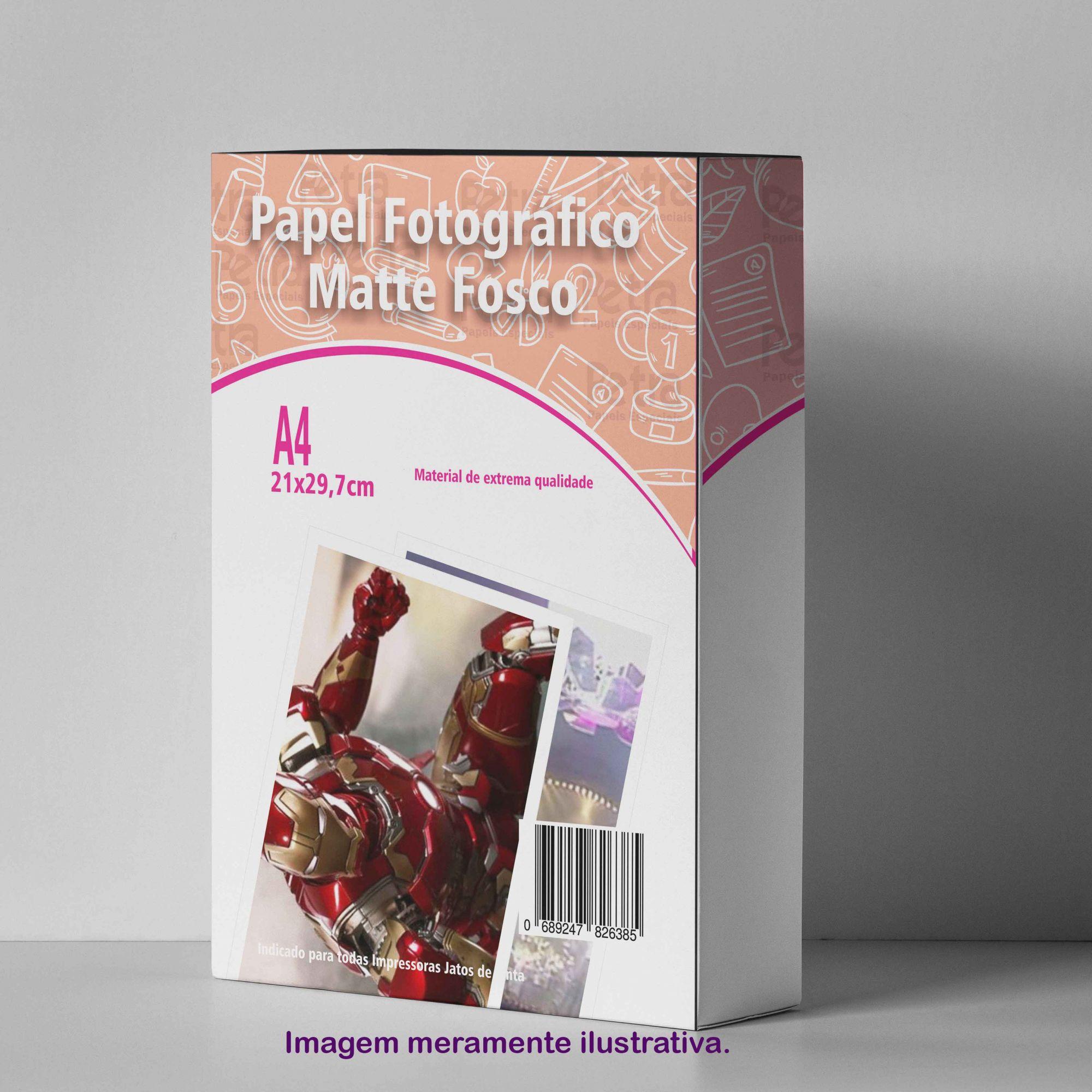 Papel Fotográfico Matte 108g/m² - Tam: A4 - 100 folhas