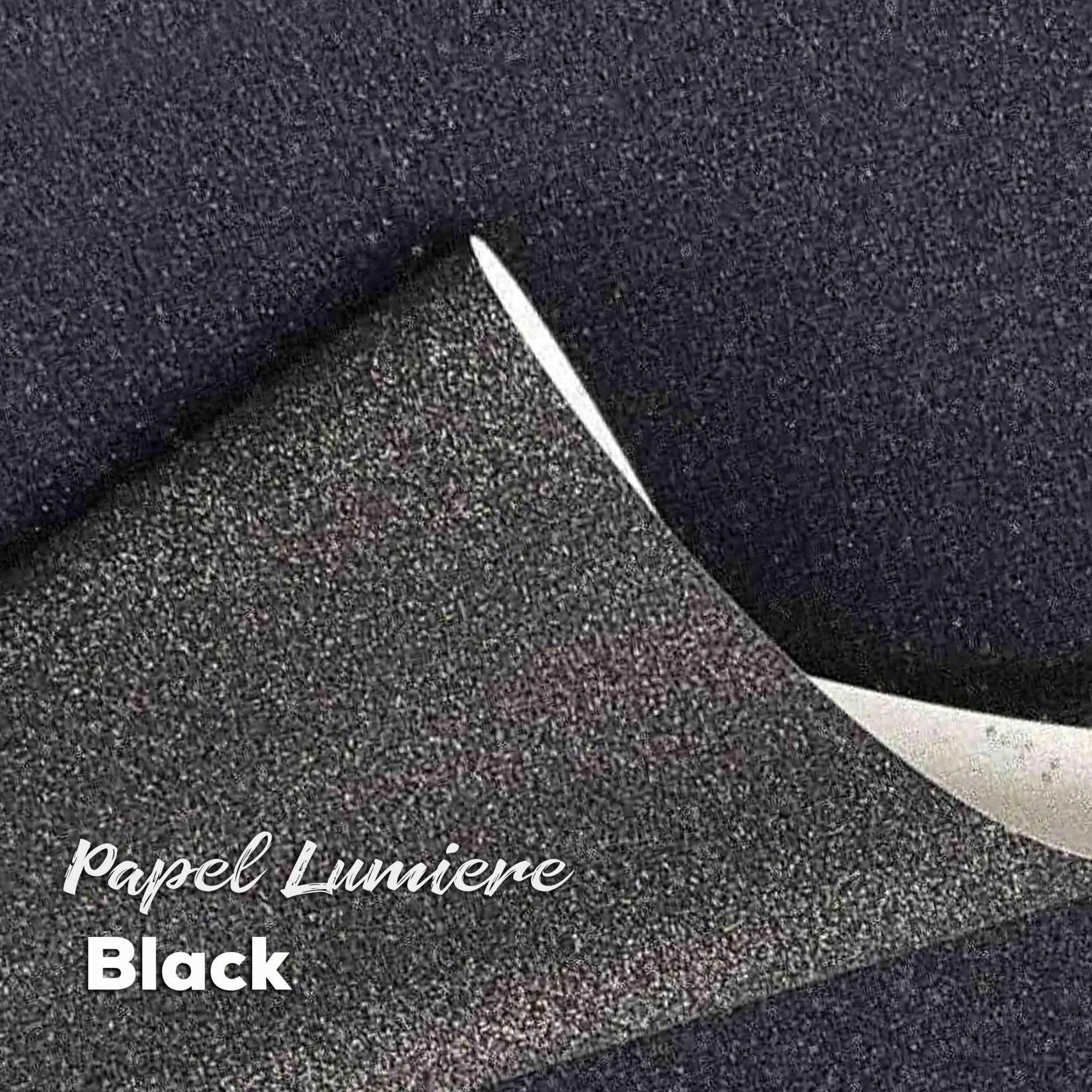 Papel Glitter Lumiere Black 150g - Preto 30,5x30,5cm com 6 folhas